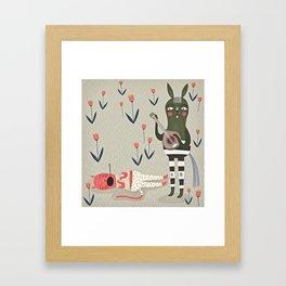 Naps. Framed Art Print