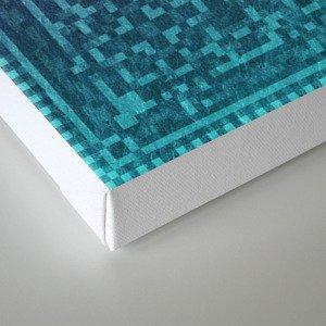 Pixel Patterns Green/Purple Canvas Print
