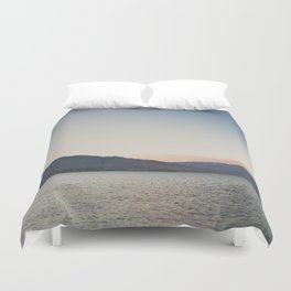 sunset over the lake ... Duvet Cover