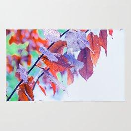Raindrops on Autumn Leavs Rug
