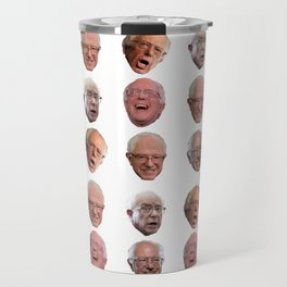 The Many Faces of Bernie Sanders Travel Mug