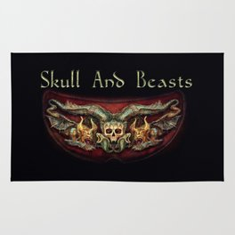 Skull And Beasts 2 Rug