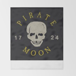 Pirate Moon Throw Blanket