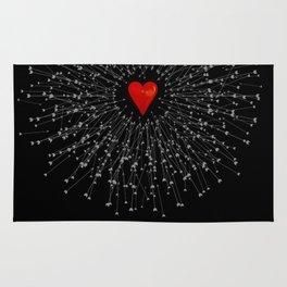 Heart&Arrows_BLACK Rug