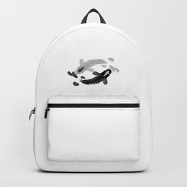 Yin-Yang oriental Koi fish Backpack
