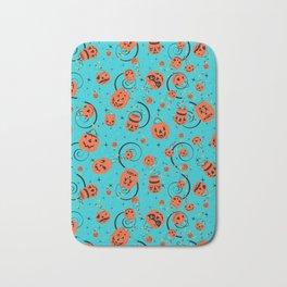 Halloween Magic- Turquoise Bath Mat