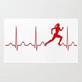 RUNNER'S WOMAN HEARTBEAT Rug