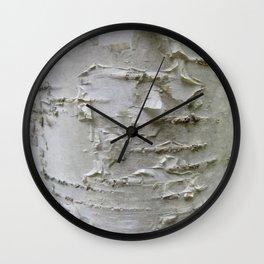 Birch Bark Wall Clock