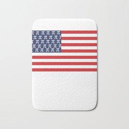 Usa American Flag Pi Day Math Funny Gifts Bath Mat
