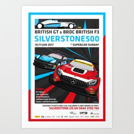 British GT and BRDC British F3, Silverstone 2017 Art Print