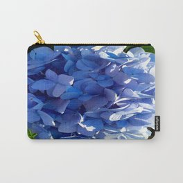 Blue Hydrangia Flower Blossom Carry-All Pouch