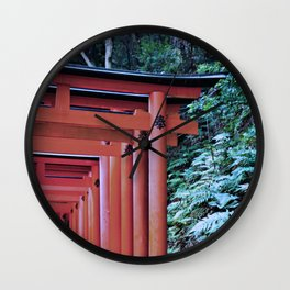 Inari Gates Galore Wall Clock