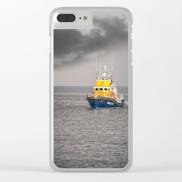 RNLI Lifeboat Clear iPhone Case
