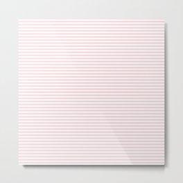 Baby Pink Stripe Metal Print