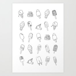 Popsicles 2 All Art Print