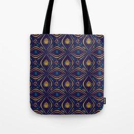 Lotus and OM symbol Luxury Pattern Tote Bag