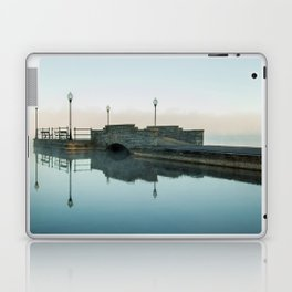 Cazenovia Lake On A Misty Morning Laptop & iPad Skin