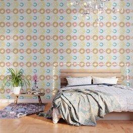 Donut shapes pastel brushes Wallpaper