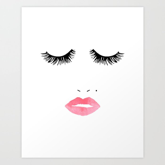 picture regarding Lip Printable titled Printable Artwork,Make-up Print,Make-up Instance,Lips Print,Lashes Artwork,Present For Her,Bed room Decor Artwork Print