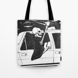 Passenger taxi grim - black and white - gothic reaper Tote Bag
