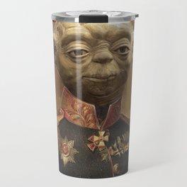 General Yoda Portrait Painting On Canvas | Fan Art Travel Mug