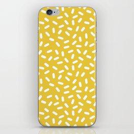 Somethin' Somethin' - yellow bright happy sprinkles pills dash pattern rad minimal prints iPhone Skin