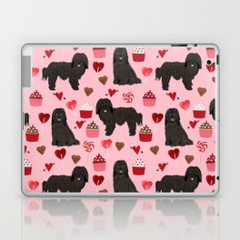 Havanese black coat cupcakes valentines day love dog breed gifts pure breed must haves Laptop & iPad Skin