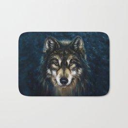 Artistic Wolf Face Bath Mat