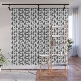 Scarf Pattern with Lady in Silk Wall Mural