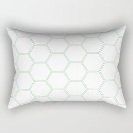 Honeycomb - Mint Green #192 Rectangular Pillow