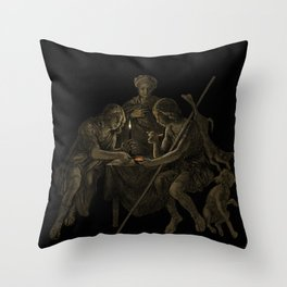"""Esau Sells His Birthright for Pottage of Lentils"". #bible #esau #birthright #jacob #art #digitalart Throw Pillow"