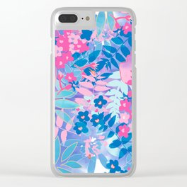 Pastel Watercolor Flowers Clear iPhone Case