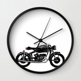 Untitled motorcycle drawing Wall Clock