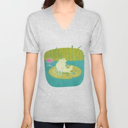 The Frog Who Would Be as Big as an Ox Unisex V-Neck