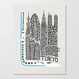 Tokyo Cityscape Canvas Print