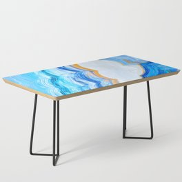 Blue and gold agate Coffee Table