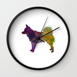 Schipperke in watercolor Wall Clock
