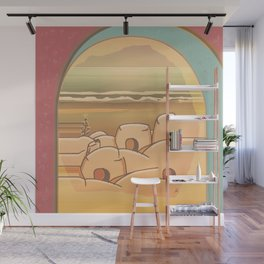 Beached Labyrinth Wall Mural