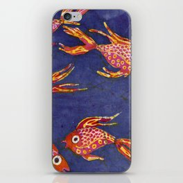Goldfish batik iPhone Skin