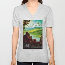 Earth - Your Oasis in Space Unisex V-Neck
