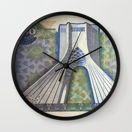 200 Rials Freedom Wall Clock