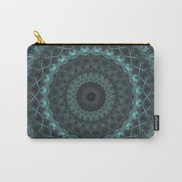 Mandala in malachite green tones Carry-All Pouch