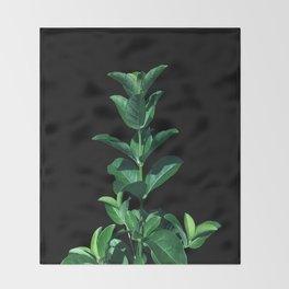 Leaves Viburnum Throw Blanket
