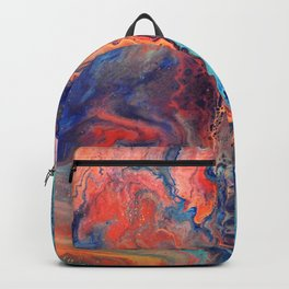 Topography of the Imagination in red Backpack