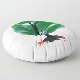 Man & Nature - The Tree of Life Floor Pillow