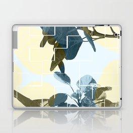 Tropical Leaves Blue Laptop & iPad Skin