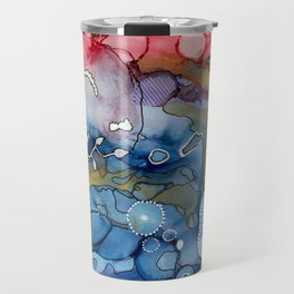 Reef of Rose and Prussian Travel Mug