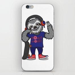Skater Sloth iPhone Skin