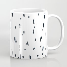 Monochrome brushstrokes lines and dots Coffee Mug