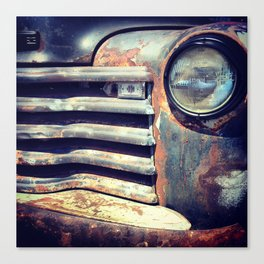 Rusty Vintage Front End Canvas Print